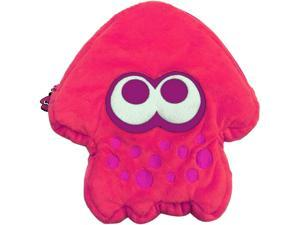 HORI 873124006605 Splatoon 2 Squid Plush Pouch (Pink) - Nintendo Switch