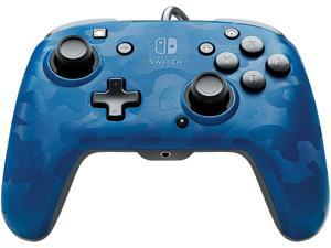 PDP - Faceoff Deluxe+ Audio Wired Blue Camo Controller - Nintendo Switch