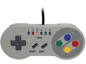 Emio 00112 The Edge Super Gamepad for SNES Classic, NES Classic, Wii U, PC White