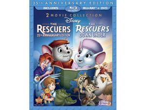 BUENA VISTA HOME VIDEO RESCUERS-35TH ANNIVERSARY/RESCUERS-DOWN UNDER 2PK (BR/DVD-2/3 DISC) BR-PKG BR109274