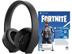 Sony PlayStation 4 Gold Wireless Headset - Jet Black Fortnite Bundle