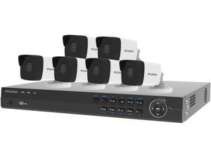 LaView 4MP 2688 x 1520P Full PoE IP Camera Security System, 8 Channel H.265 NVR w/ 4K Output, 6 x 4MP Full HD (2688 x 1520) In / Outdoor IP Cameras (No HDD Included, Sold Separately)