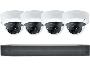 LaView Saturn Professional 4Ch DVR Surveillance System with 1TB HDD and 4x 4MP Dome Security Cameras