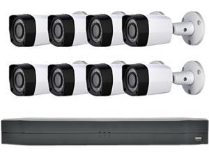 LaView Saturn Professional 8Ch DVR Surveillance System with 1TB HDD and 8x 2MP Bullet Security Cameras