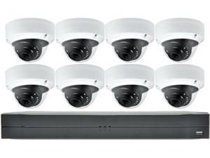 LaView Saturn Professional 8ch DVR with 8x 4MP Dome Cameras