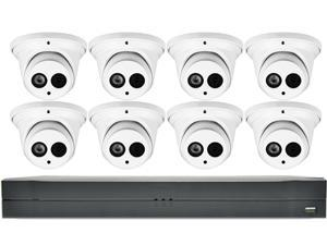 LaView Saturn Professional 16ch DVR with 8x 4MP Turrets Cameras
