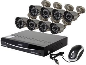 KGuard EL1622-2CKT005-1TB 16 Channel H.264 Level 960H DVR w/QR Code Easy Setup, Support Cloud Service-Dropbox, 8 x800TVL Day/Night Camera