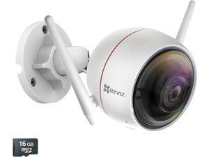 EZVIZ EZ3101B2G16 Wireless ezGuard Plus All-in-One HD 1080p Wi-Fi Security Camera, 16GB MicroSD Included