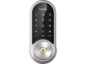 Hugolog HU03-SNL-BLU Smart Lock Dead Bolt w/ key Cylinder- Satin Nickle - With Bluetooth Hub for Remote Control