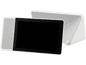 "Lenovo 8"" Smart Display with the Google Assistant (White Front and Soft-Touch Bamboo Back)"