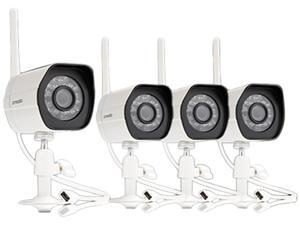 Zmodo ZM-W0002-4 Smart Wireless Security Cameras- 4 Pack- HD Indoor/Outdoor WiFi IP Cameras with Night Vision Easy Remote Access