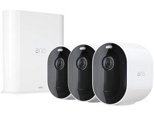 Arlo Pro 3 - Wire-Free Security 3 Camera System, 2K Resolution with HDR, 160° View, Indoor/Outdoor, Color Night Vision, Spotlight, 2-Way Audio, Rechargeable Battery, Siren (VMS4340P)