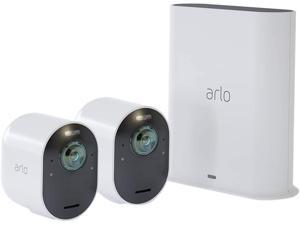 Arlo Ultra 2 Spotlight Camera Kit | Wire-Free, 4K Video & HDR | Color Night Vision, 2-Way Audio, 6-month battery life, Motion Activated, 180° View | White