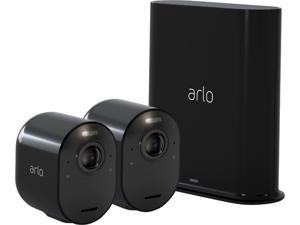 Arlo Ultra 2 Spotlight Camera Kit | Wire-Free, 4K Video & HDR | Color Night Vision, 2-Way Audio, 6-month battery life, Motion Activated, 180° View | Black