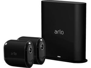 Arlo Pro 3 - Wire-Free Security 2 Camera System, 2K Resolution with HDR, 160° View, Indoor/Outdoor, Color Night Vision, Spotlight, 2-Way Audio, Rechargeable Battery, Siren (Black)