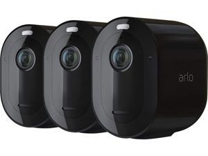 Arlo Pro 4 Wire-Free Spotlight Camera - 3 Cameras Pack - 2K Video with HDR | Indoor/Outdoor Security Cameras with Color Night Vision, Spotlight, 160° View, 2-Way Audio, Siren - Black