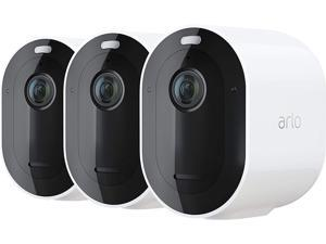 Arlo Pro 4 Wire-Free Spotlight Camera - 3 Cameras Pack - 2K Video with HDR | Indoor/Outdoor Security Cameras with Color Night Vision, Spotlight, 160° View, 2-Way Audio, Siren - White