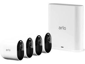 Arlo Pro 3 - Wire-Free Security 4 Camera System | 2K with HDR, Indoor/Outdoor, Color Night Vision, Spotlight, 160° View, 2-Way Audio, Siren | Compatible with Alexa | (VMS4440P)