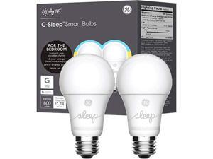 C by GE Tunable White Smart Bulbs (2 LED A19 Light Bulbs), 60W Replacement, Bluetooth Enabled, Works with Google Assistant Without A Hub, Works with Alexa and HomeKit With Hub