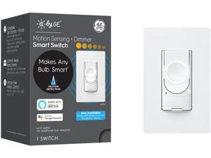 C by GE 3-Wire Smart Switch Motion Sensing and Dimmer, White - Wi-Fi, Works with Alexa and Google Assistant Without a Hub, No Neutral Wire Required, Single-Pole/3-Way Replacement
