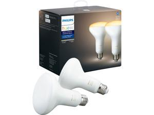 Philips Hue 548594 White Ambiance BR30 Bluetooth Smart LED Bulb (2-Pack) - Adjustable White