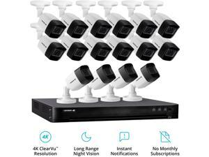 Defender 4K4T16B16 16 Channel Ultra HD 4K (8MP) Wired Security System with 16 Night Vision Cameras