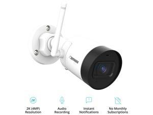 Defender Security Guard 4 Megapixel (2K) Resolution Wi-Fi IP Camera with Mobile Viewing, Audio Recording and No Monthly Fees