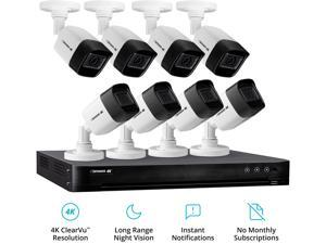 Defender 8 Channel Ultra HD 4K (8MP) Wired Security System with 8 Night Vision Cameras