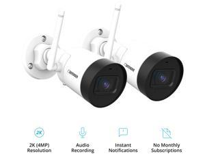 Defender Guard 4 Megapixel (2K) Resolution Wi-Fi IP Camera with Mobile Viewing, Audio Recording and No Monthly Fees (2 Pack)