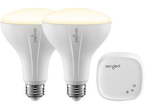 Sengled E2D-N13W27-90 Element Classic By Sengled - Starter Kit (2 BR30 Bulbs + Hub) - Soft White 2700K Smart LED, Works with Alexa & Google Assistant