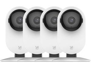 YI Home Camera, 1080p Wireless IP Security Camera (4-Pack) with Night Vision, Nanny Monitor on iOS, Android App, Cloud Service - Works with Alexa and Google Assistant