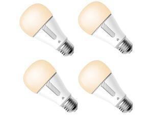 Kasa Smart Light Bulb, LED Smart Wi-Fi Bulb Compatible with Alexa and Google Home, A19 Dimmable, 2.4Ghz, No Hub Required, 800Lumens Soft White (2700K), 4-Pack, KL110P4