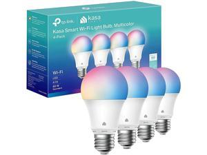 Kasa Smart Light Bulbs, Full Color Changing Dimmable Smart WiFi Bulbs Compatible with Alexa and Google Home, A19, 9W 800 Lumens,2.4Ghz only, No Hub Required, 4-Pack (KL125P4)