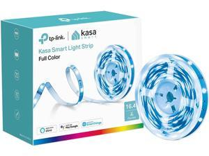 Kasa Smart LED Light Strip, 16.4ft WiFi LED Strip Works with Alexa, Google Home, SmartThings, High Brightness with 16 Million Colors, RGB, Grouping, Adjustable Length, Up to 25,000 Hours (KL400L5)