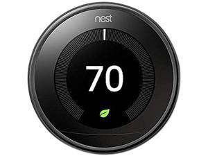 Nest T3018US Learning Thermostat - 3rd Generation - Mirror Black