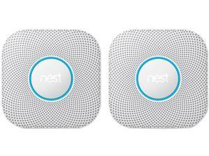 Google Nest Protect 2nd Gen Smoke and Carbon Monoxide Alarm, Battery 2PK (S3000BWEF-K)