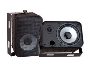 """PYLE PD-WR50B 2 CH 6.5"""" Indoor/Outdoor Waterproof Speakers (Black) Pair"""