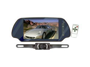 "PYLE 7"" TFT Mirror Monitor w/ Rear-View Night Vision Camera"