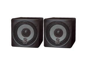 PYLE PCB3BK Mini Cube Bookshelf Speaker (Black) 3'' 100 Watt Pair
