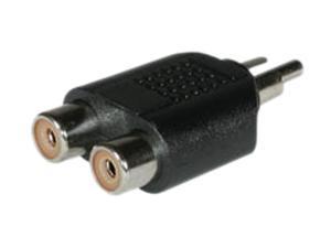 C2G 40650 One RCA Mono Male to Two RCA Mono Female Audio Adapter, Black