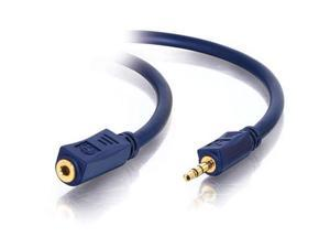 C2G 40606 1.5 ft. Velocity 3.5mm M/F Stereo Audio Extension Cable
