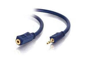 C2G 40607 3 ft. Velocity 3.5mm M/F Stereo Audio Extension Cable Male to Female
