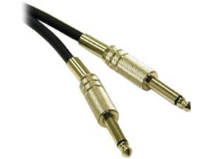 C2G 40063 Pro-Audio 1/4 Inch Male to 1/4 Inch Male Cable, Black (1.5 Feet, 0.45 Meters)