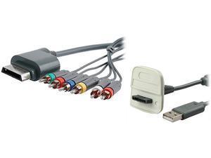 Insten 1647369 1X Premium Component HD AV Cable compatible with Microsoft Xbox 360 / Xbox 360 Slim