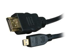 BYTECC HM-MICRO3K 3 ft. Black HDMI Male to HDMI micro Male HDMI Male to HDMI micro Male High Speed Cable with Ethernet Male to Male