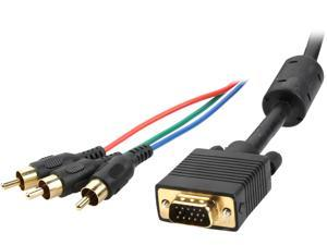CABLES UNLIMITED PCM-2330-25 25 ft. HDB15 to RCA Component Video Cable