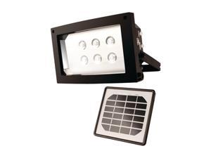 Maxsa 40330 Solar-Powered Flood Light - Black