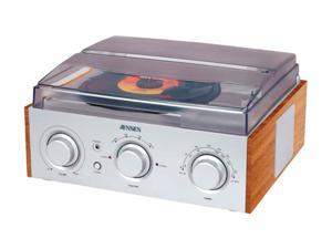 Jensen JTA-220 Stereo 3-Speed Turntable with AM/FM Receiver