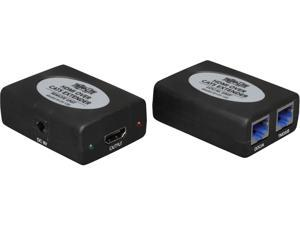 Tripp Lite HDMI over Dual Cat5/6 Extender Kit, In-Line Transmitter/Receiver, Video and Audio, 1920x1200 1080/24p, Up to 150-ft. (B125-150)