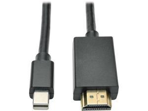 Tripp Lite Mini Displayport to HD Cable Adapter, MDP to HDMI (M/M), MDP2HDMI, 1080p, 6 ft. (P586-006-HDMI)